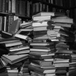 Books in a stack, by austinevan